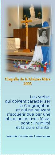 Chapelle Maison Mère